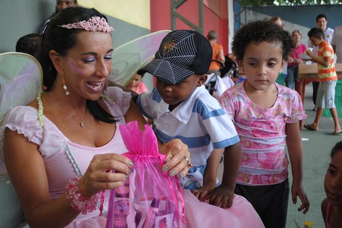 Festa de natal das crianças no RJ